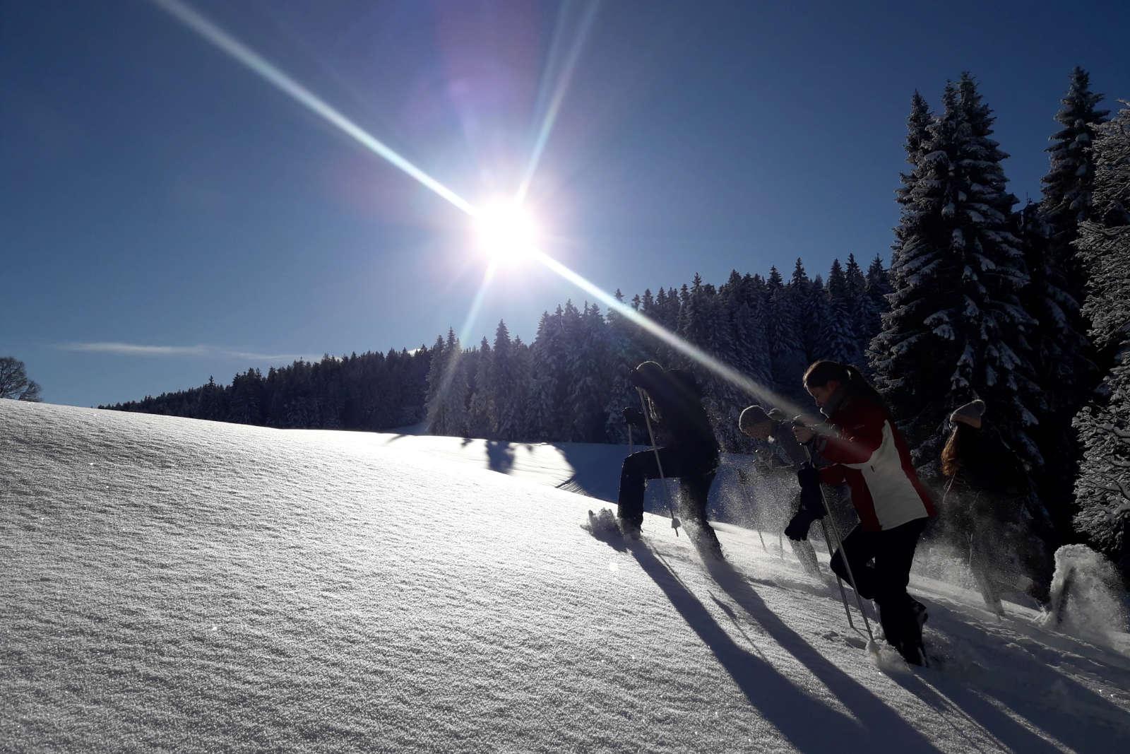 Schneeschuhwanderung Schwarzenberg Vorarlberg